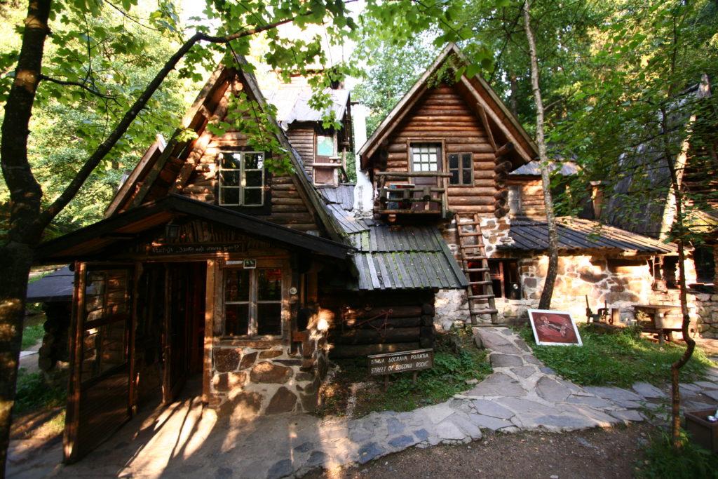 Home built house in forrest zelenkovac
